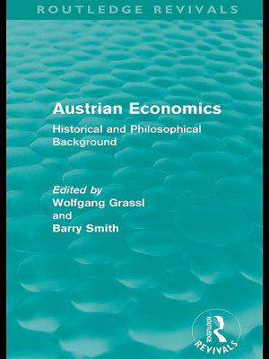 Austrian Economics  Routledge Revivals  PDF