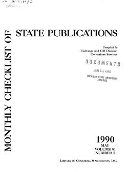 Monthly Checklist of State Publications PDF