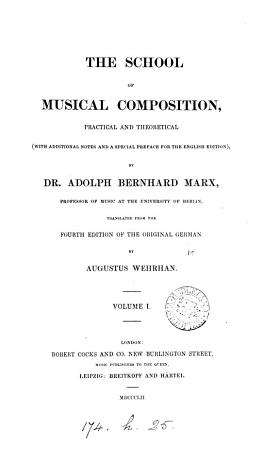 The school of musical composition  tr  by A  Wehrhan PDF