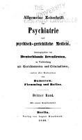Allgemeine Zeitschrift f  r Psychiatrie und ihre Grenzgebiete PDF