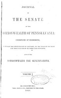 Journal of the Senate of the Commonwealth of Pennsylvania PDF