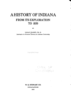 A History of Indiana  From its exploration to 1850 PDF