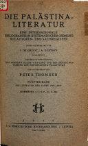 Die Pal  stina Literatur PDF