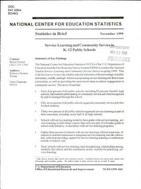 Service learning and Community Service in K 12 Public Schools PDF