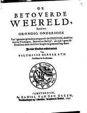 De betoverde weereld ... in vier boeken ondernomen