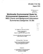 Multimedia Environmental Goals for Environmental Assessment: MEG charts and background information summaries (categories 13-26)