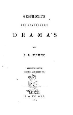 Geschichte des Dramas von J  L  Klein PDF