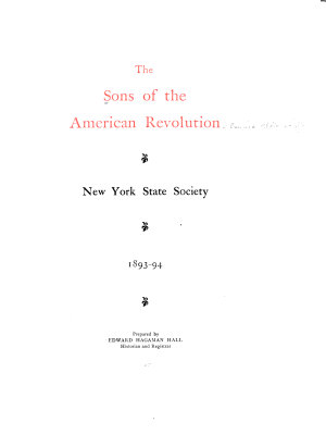 The Sons of the American Revolution