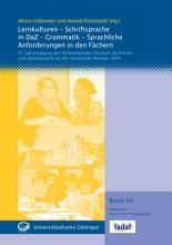 Lernkulturen   Schriftsprache in DaZ   Grammatik   Sprachliche Anforderungen in den F  chern PDF