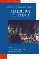 A Companion to Marsilius of Padua PDF