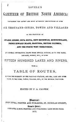 Lovell s Gazetteer of British North America