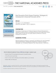 Next Generation Earth System Prediction