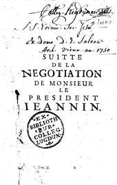 Les négotiations de M. le président Jeannin... éd. par Castille, abbé de Saint-Bénigne