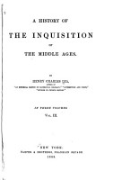 A History of the Inquisition of the Middle Ages  Special fields of inquisitorial activity PDF