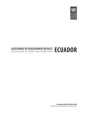 Assessment of Development Results   Ecuador PDF