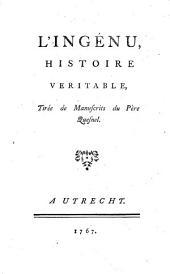 L'ingénu,: histoire veritable, tirée de manuscrits du Père Quesnel