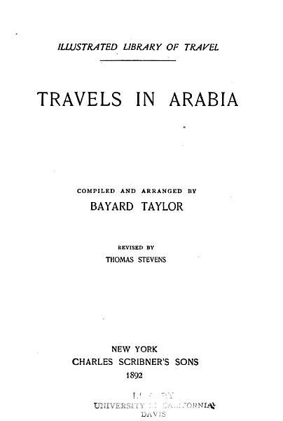 Download Travels in arabia Book