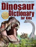 Dinosaur Dictionary for Kids PDF