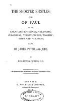 The Shorter Epistles PDF