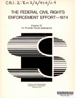 The Federal civil rights enforcement effort  1974 PDF