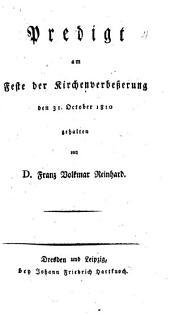 Predigt am Gedächtnißtage der Kirchenverbesserung im Jahre 1810