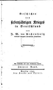 Geschichte des siebenjährigen Krieges in Deutschland: Band 2