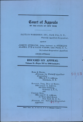 Court of Appeals of the State of New York: Record on Appeal