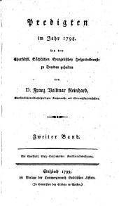 Predigten im Jahr ... bey dem Churfürstl. Sächsischen Evangelischen Hofgottesdienste zu Dresden gehalten: Band 1798,Ausgabe 2