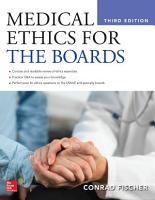Medical Ethics for the Boards  Third Edition PDF