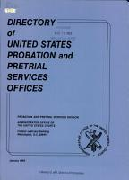 Directory of United States Probation and Pretrial Services Officers PDF