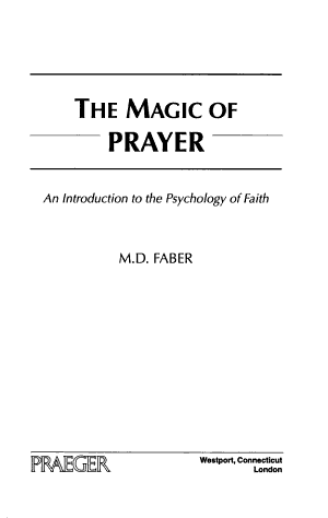 The Magic of Prayer PDF