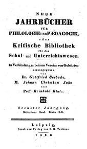 Neue Jahrbücher für Philologie und Paedagogik: Band 17