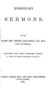 Missionary Sermons