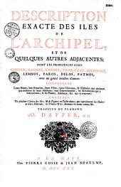 Description exacte des isles de l'Archipel, et de quelques autres adjacentes