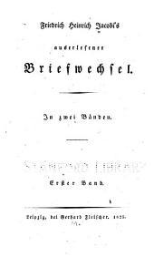 Friedrich Heinrich Jacobi's auserlesener Briefwechsel: Band 1