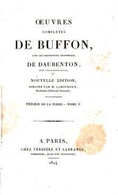 Oeuvres complètes de Buffon: avec les descriptions anatomiques de Daubenton, son collaborateur, Volume5,Partie5