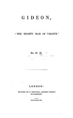 """Gideon, """"the mighty man of valour."""" By [Lady] H[arriet] H[oward]."""