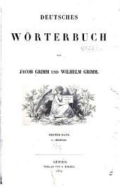 Deutsches Wörterbuch: Band 1,Teile 1-2