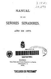 Manual de los señores senadores: año de 1879