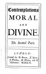Contemplations Moral And Divine Book PDF