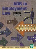 ADR in Employment Law PDF