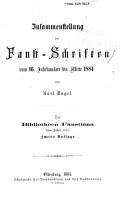Zusammenstellung der Faust Schriften vom 16 jehrhundert bis mitte 1884 PDF