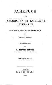 Jahrbuch f  r romanische und englische Sprache und Literatur PDF