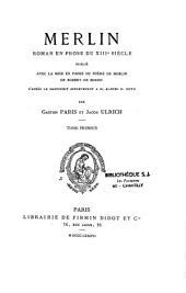 Merlin: roman en prose du XIIIe siècle