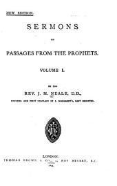 Sermons on Passages from the Prophets: Volume 1