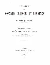 Traité des monnaies grecques et romaines: Volume1,Partie1