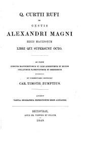 Q. Curtii Rufi De gestis Alexandri Magni, regis Macedonum libri qui supersunt octo