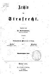 Archiv für preußisches Strafrecht: Band 38