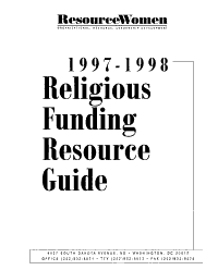 Religious Funding Resource Guide Book PDF