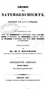 Archiv für Naturgeschichte: Band 13,Teil 1